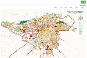 نقشه آلودگی